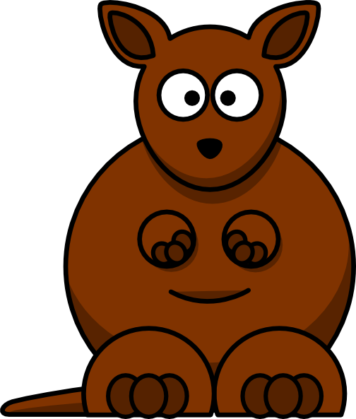Cute Kangaroo Drawing | Clipart Panda - Free Clipart Images