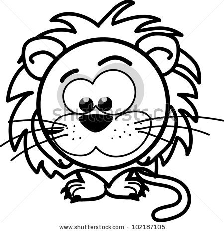 Cartoon Cute Black White Lion Clipart Panda