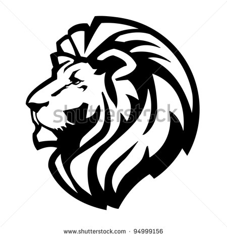 Cute lion head clipart stock vector lion head icon 94999156 jpg