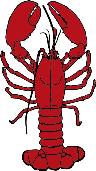 Cute Lobster Silhouett...