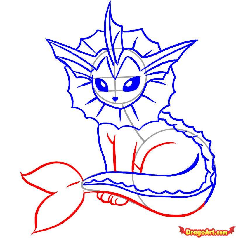 how to draw a mermaid draw so cute