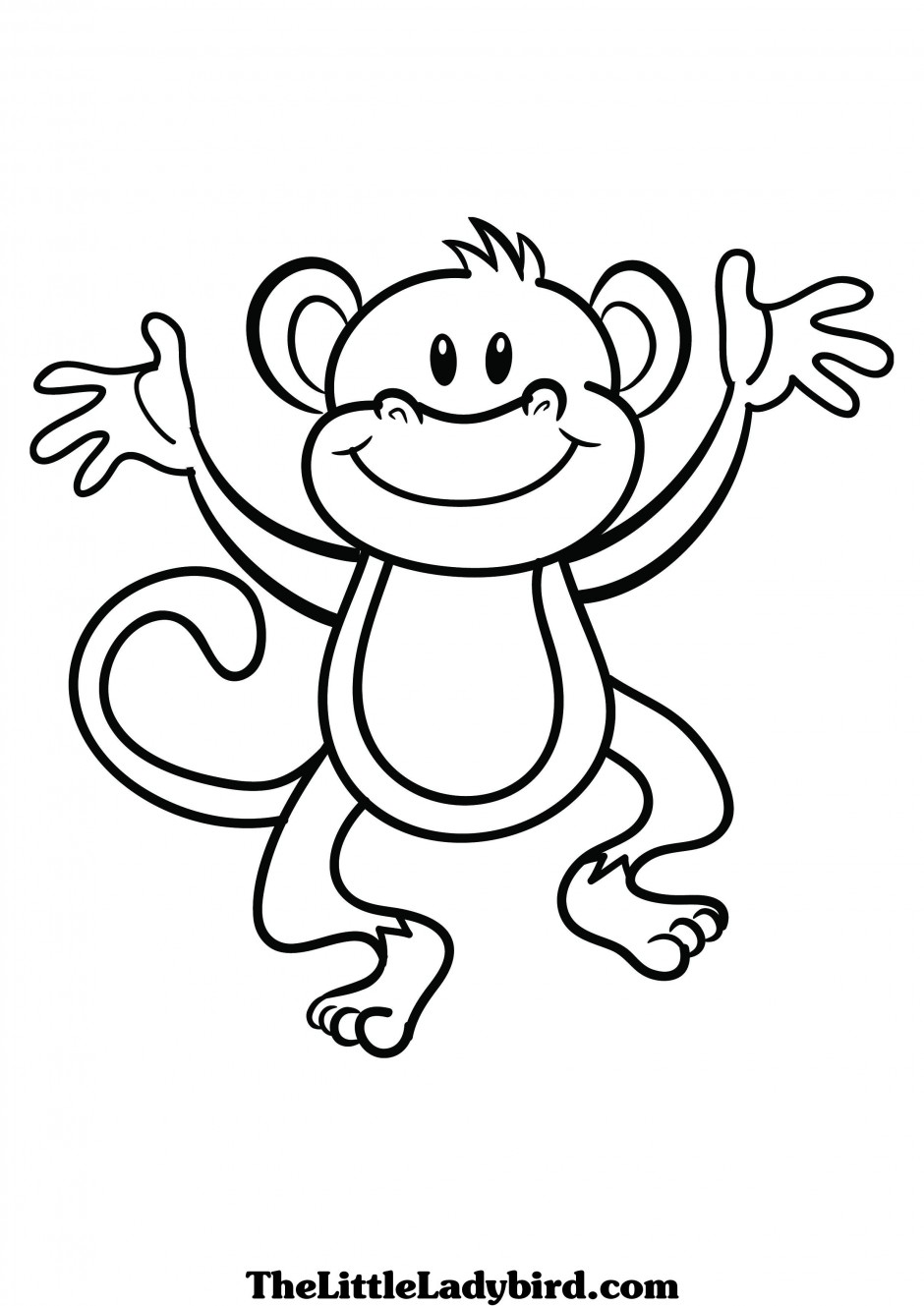 Ber ideen zu affenvorlage auf pinterest for Cute monkey coloring pages