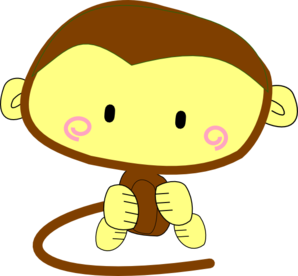 Watch more like Cute Monkey Clip Art Black And White