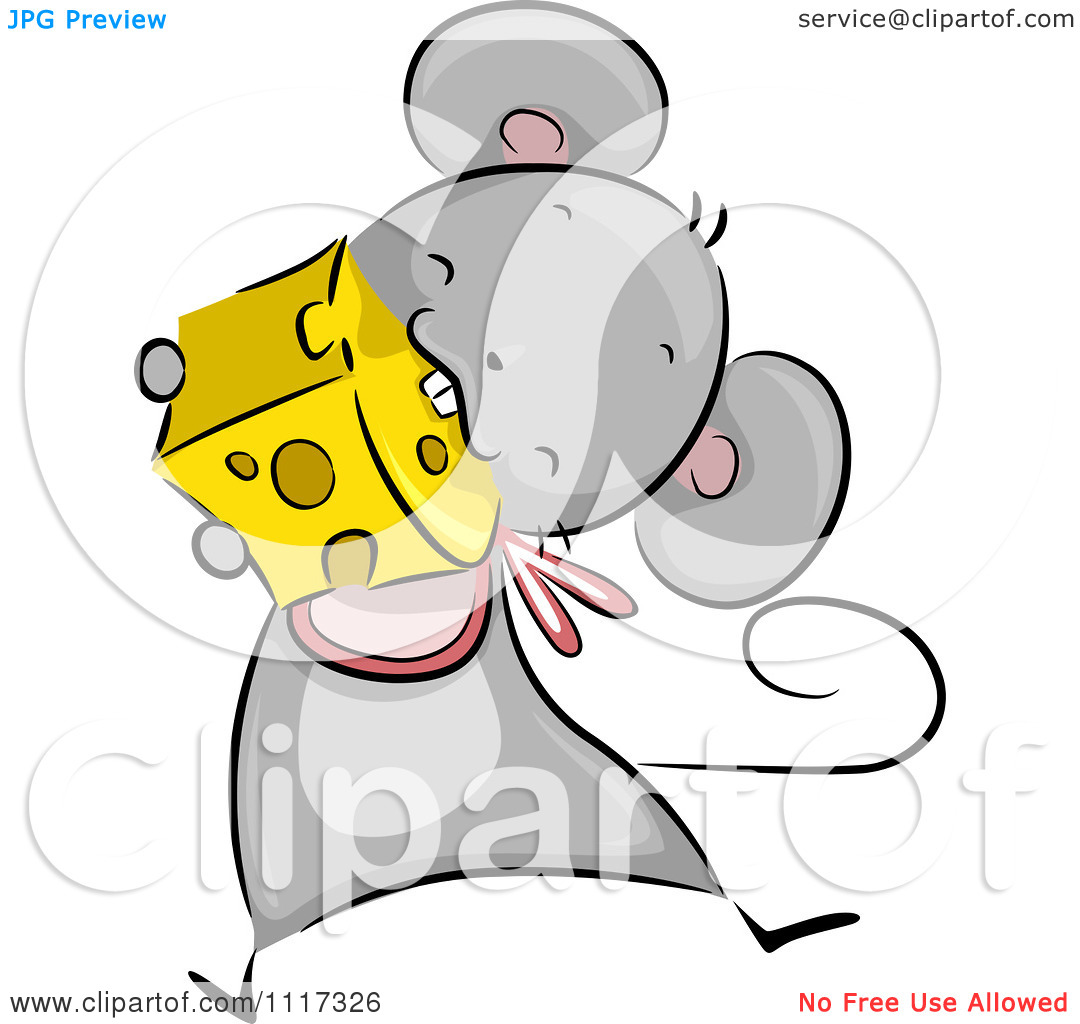 clipart mouse eating cheese - photo #24