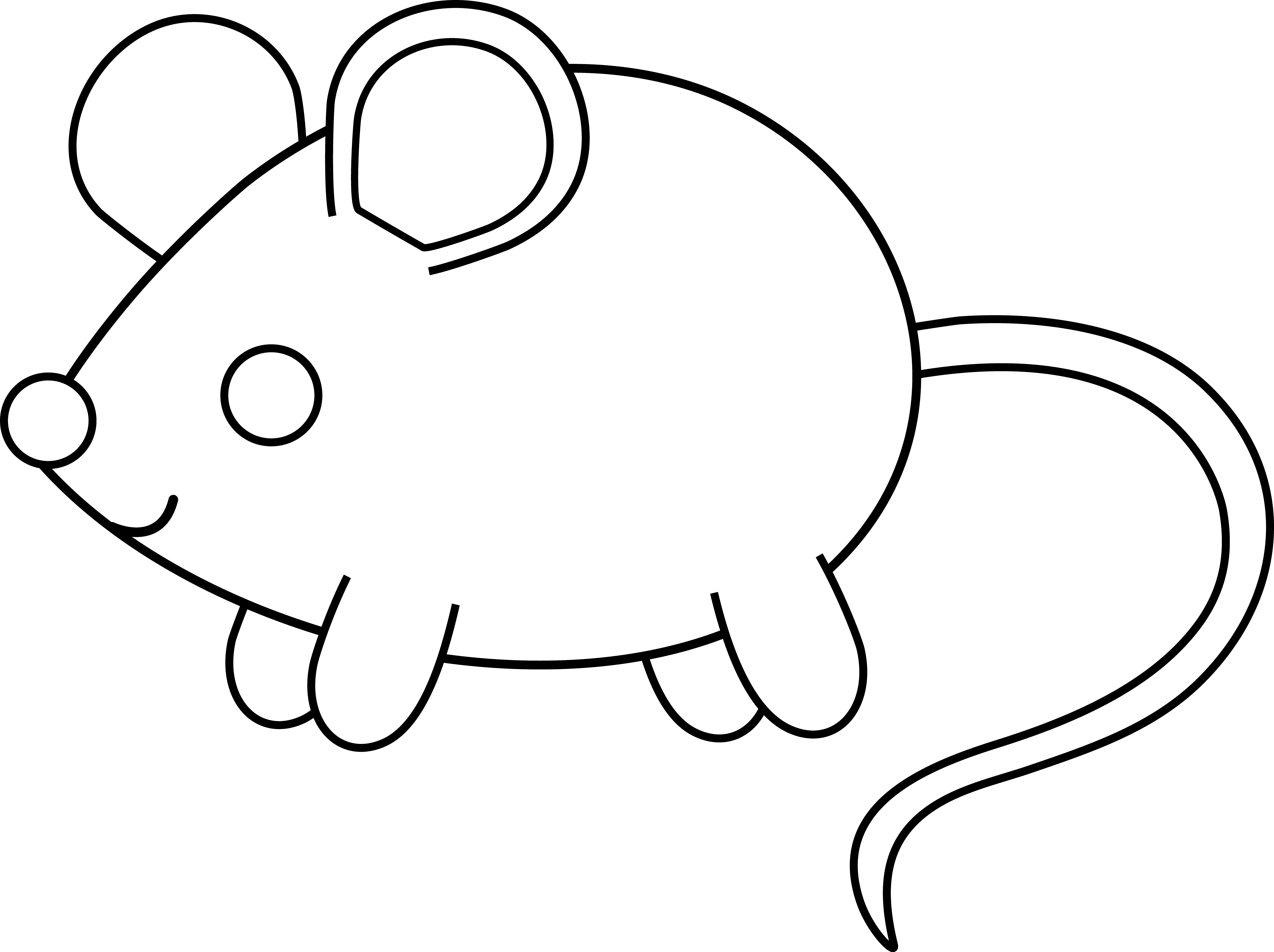 Computer mouse black and white clipart