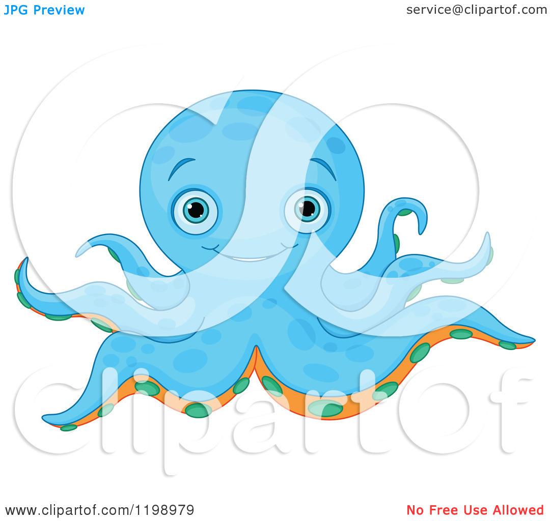 Blue Octopus Vector Art - Download Free Vectors, Clipart Graphics & Vector  Art