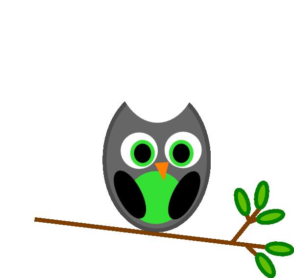 Gray Owl clip art - vector | Clipart Panda - Free Clipart ...