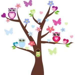 Cute Owl Tree Branch Wall | Clipart Panda - Free Clipart ...