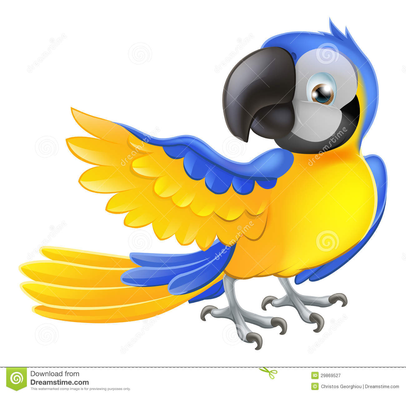 Blue Macaw Drawing Cute Parrot Clipart | ...