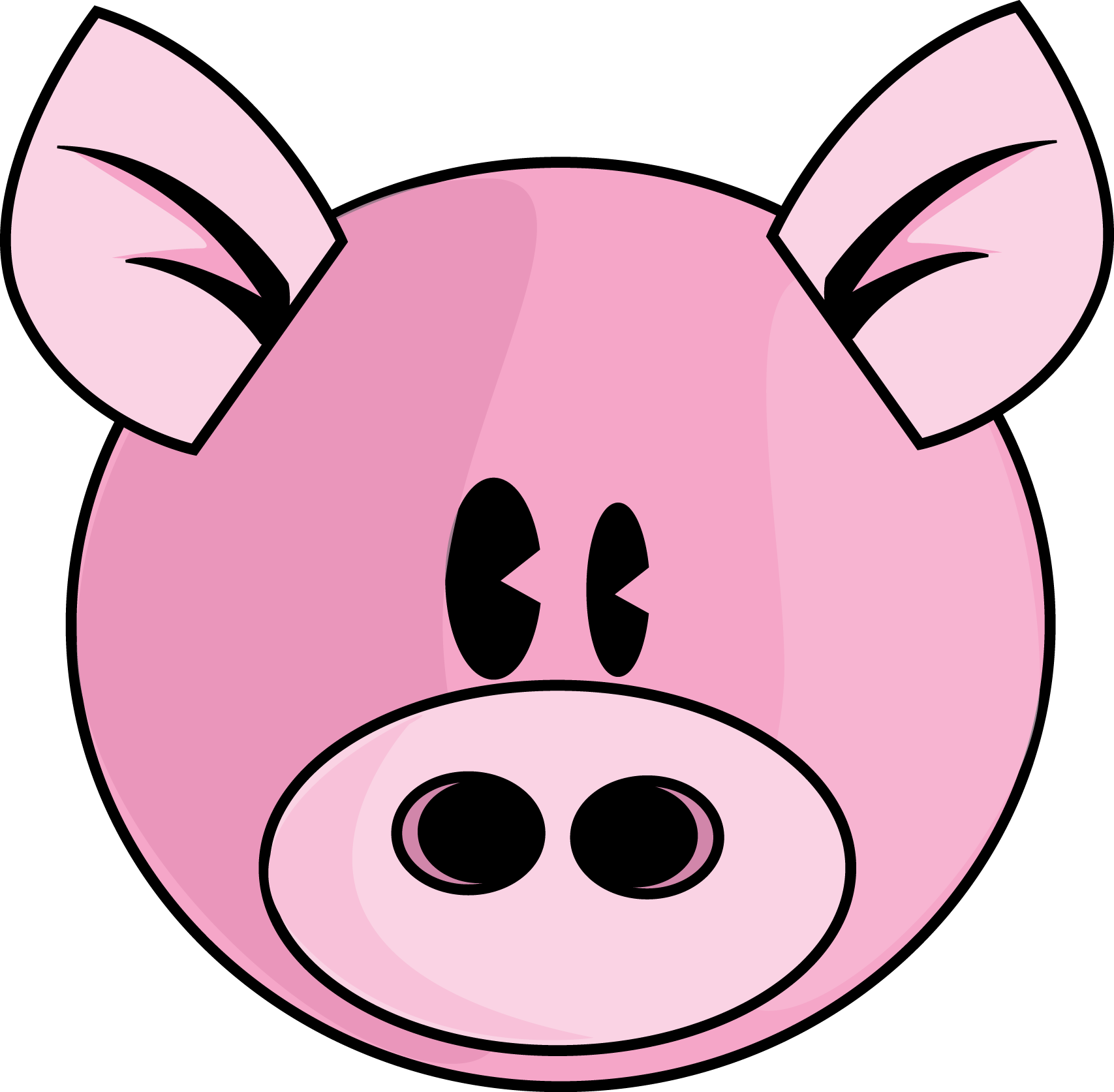 Line Drawing Of A Pig Face : Cute pig face clip art clipart panda free images