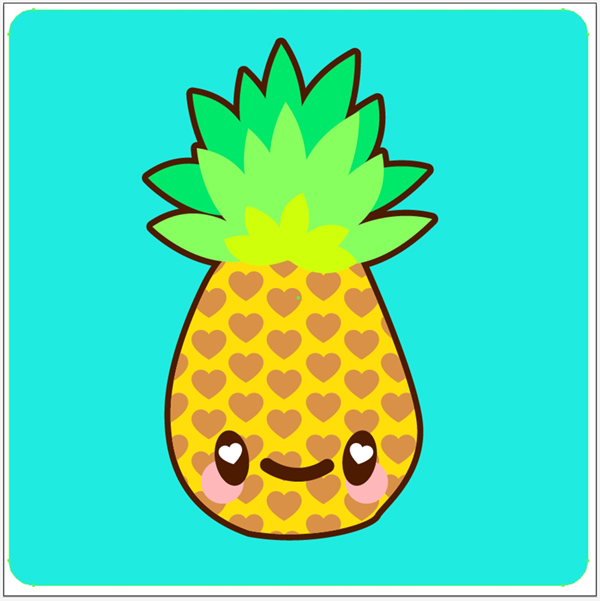 Cute Pineapple Outline | Clipart Panda - Free Clipart Images