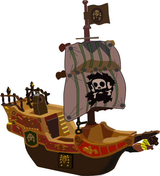 pirate ship clip art is free