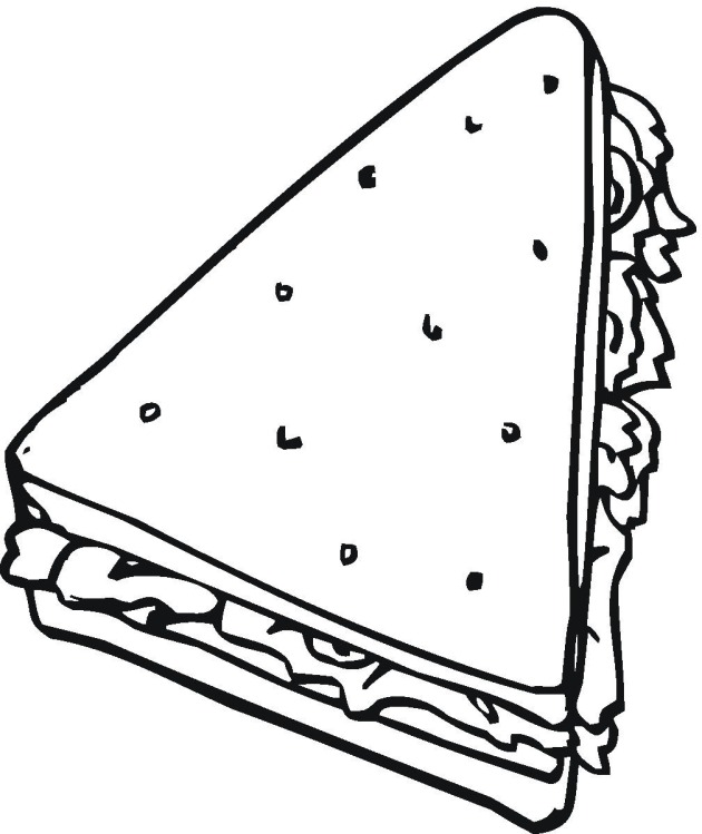 coloring pages images sandwiches - photo#9