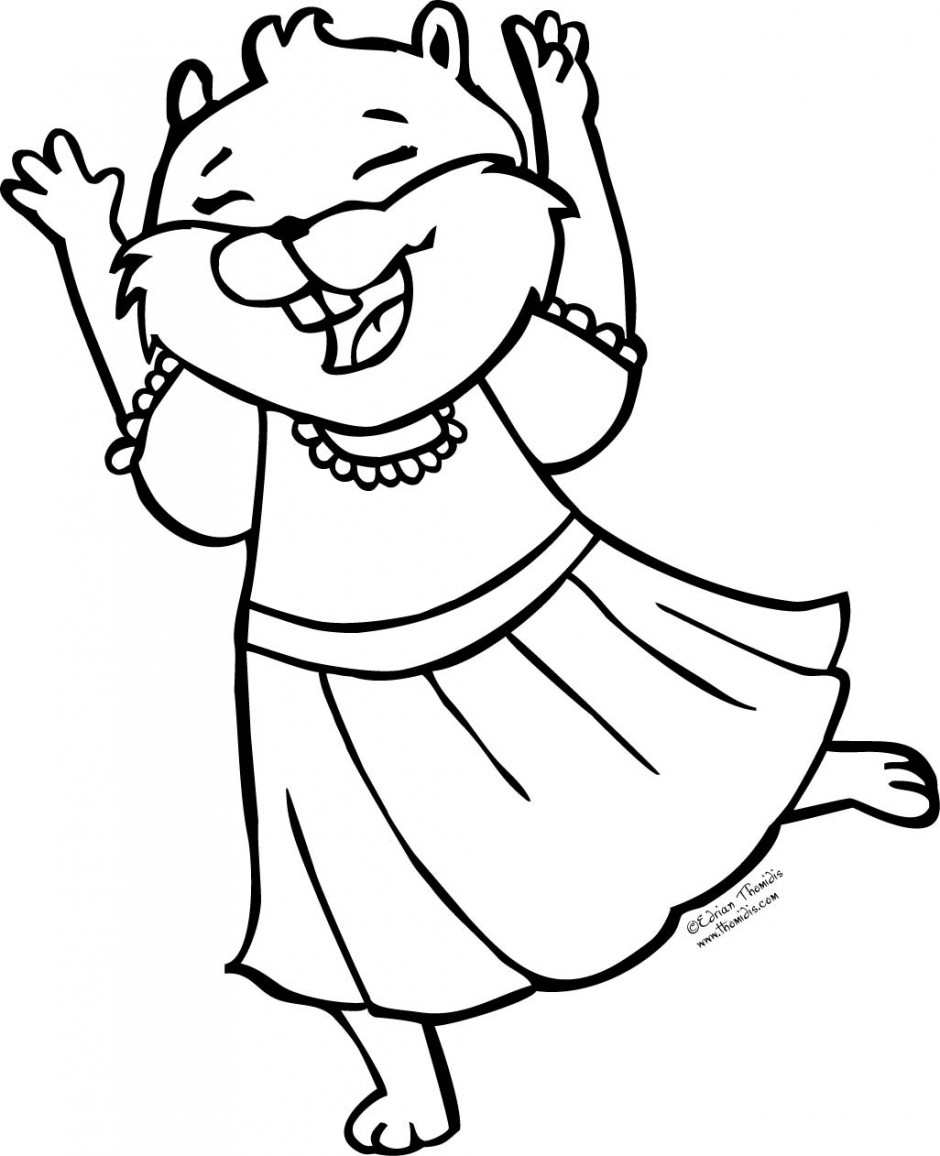cute squirrel coloring page clipart panda free clipart images