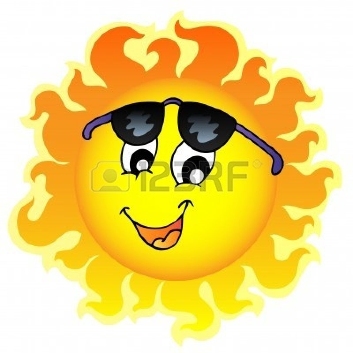 Cute Sun With Sunglasses Clipart | Clipart Panda - Free ...