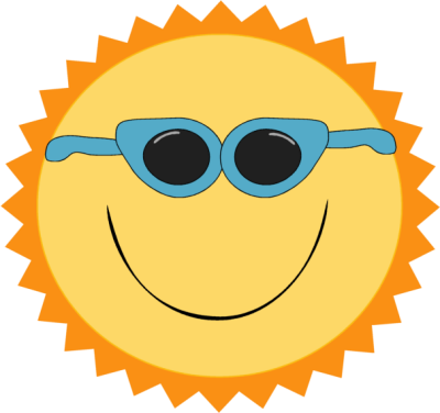 Sun With Sunglasses Clipart Transparent | Clipart Panda ...