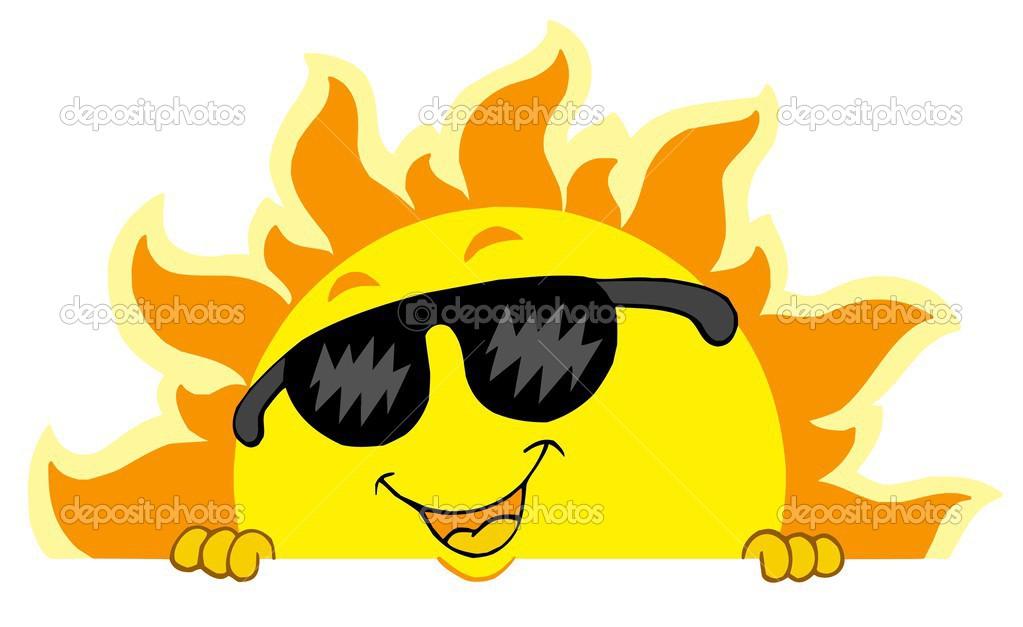 Cute sun with sunglasses clipart panda free clipart images - Image soleil rigolo ...