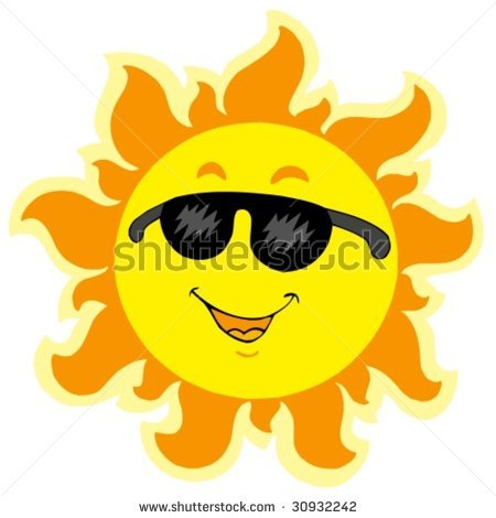 Cute Sun With Sunglasses | Clipart Panda - Free Clipart Images