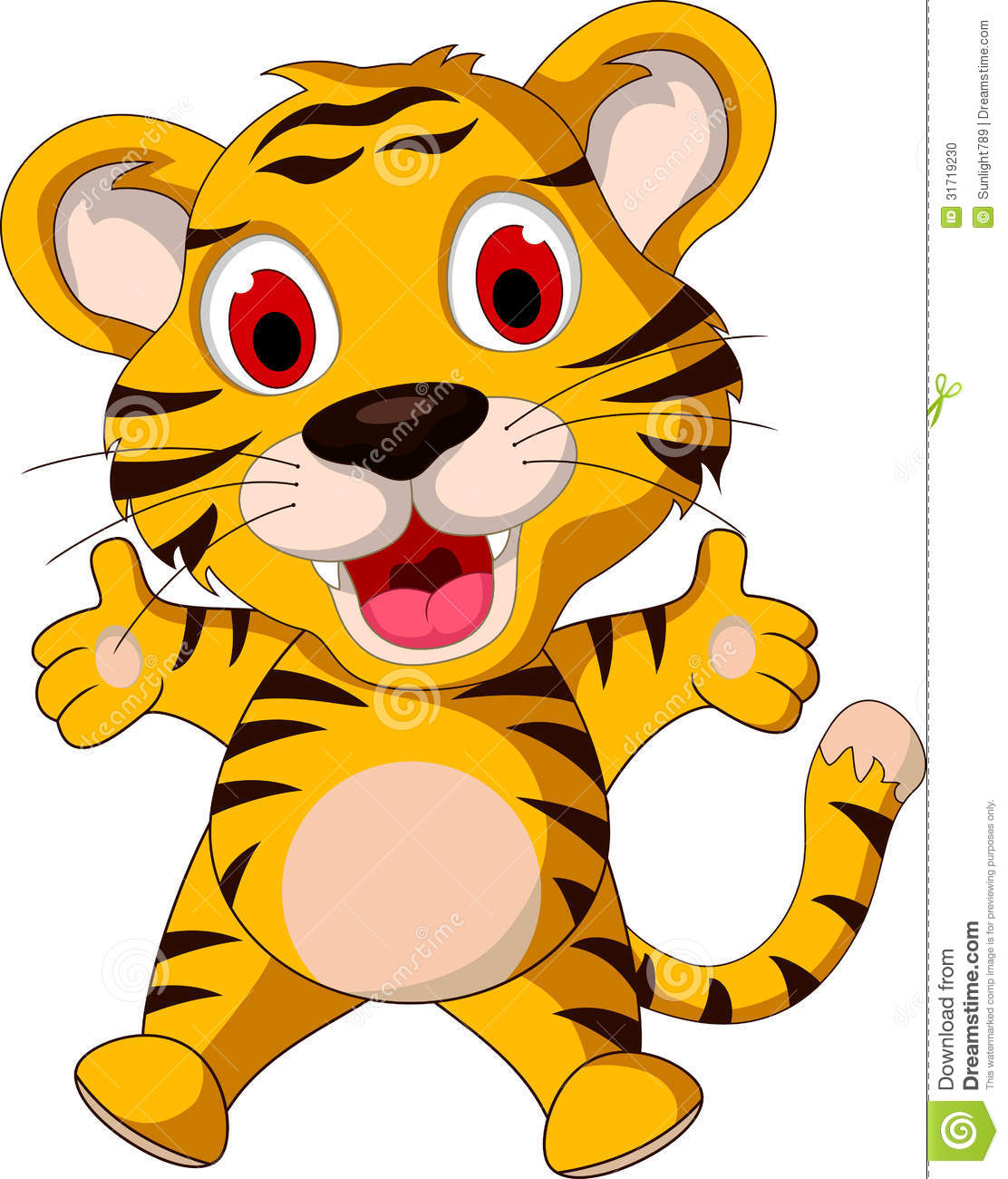 cute baby tiger clipart clipart panda free clipart images rh clipartpanda com  cute tiger cub clipart