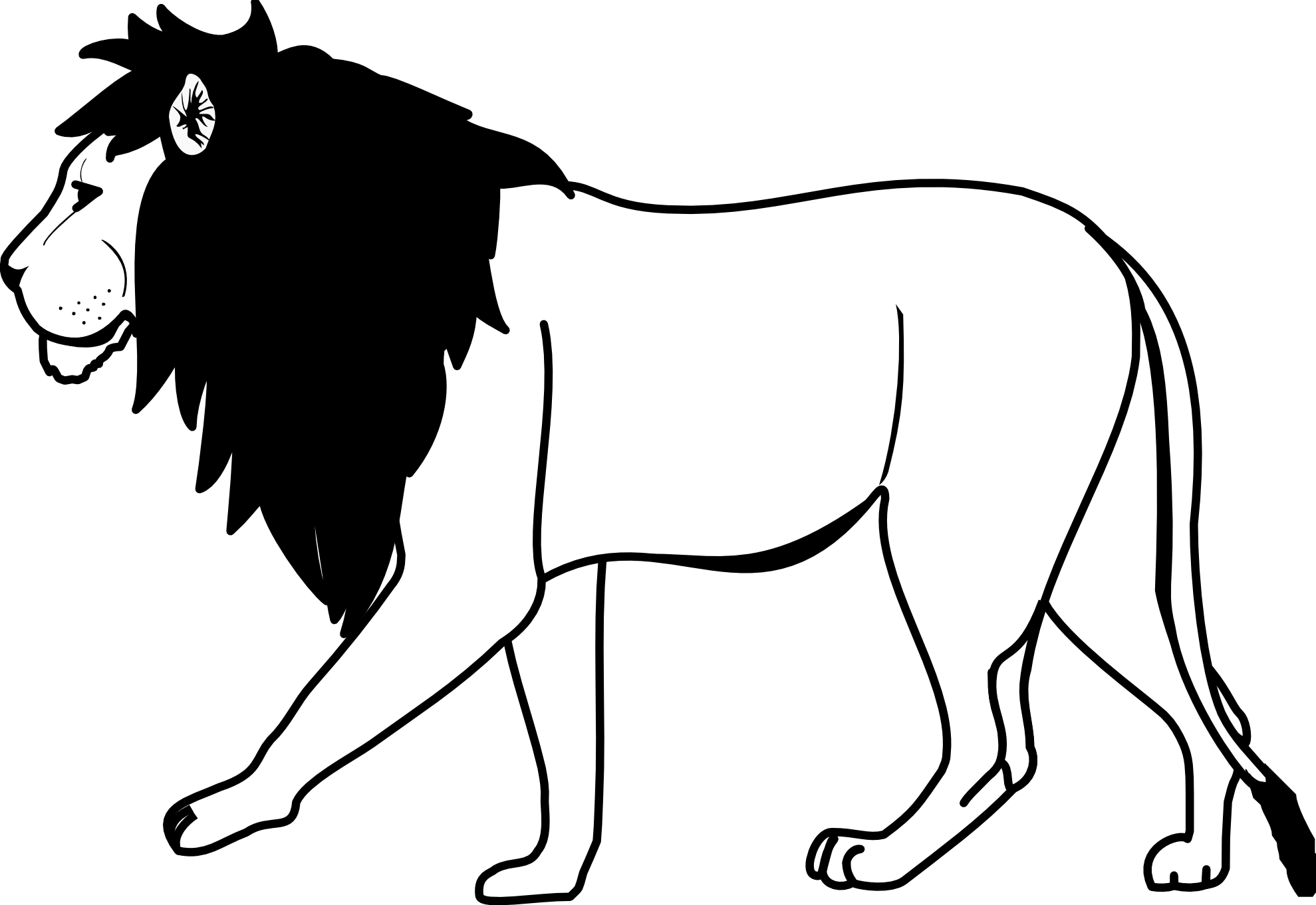 cute-tiger-clipart-black-and-white-lion-clipart-black-and-white-lion_2 ...