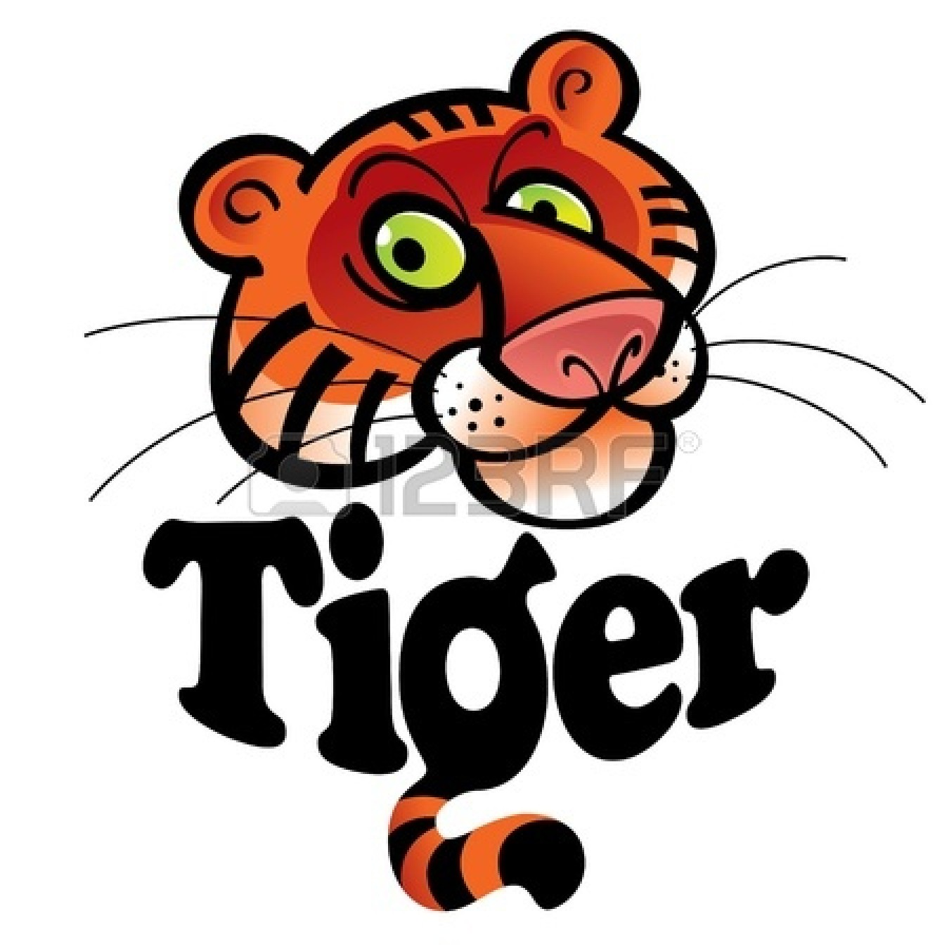 Cute Tiger Face Clip Art