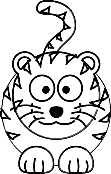Cute Tiger Clipart Black And White | Clipart Panda - Free ...