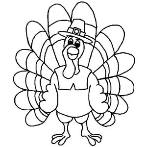 Happy Thanksgiving Turkey Coloring Pages  Clipart Panda  Free