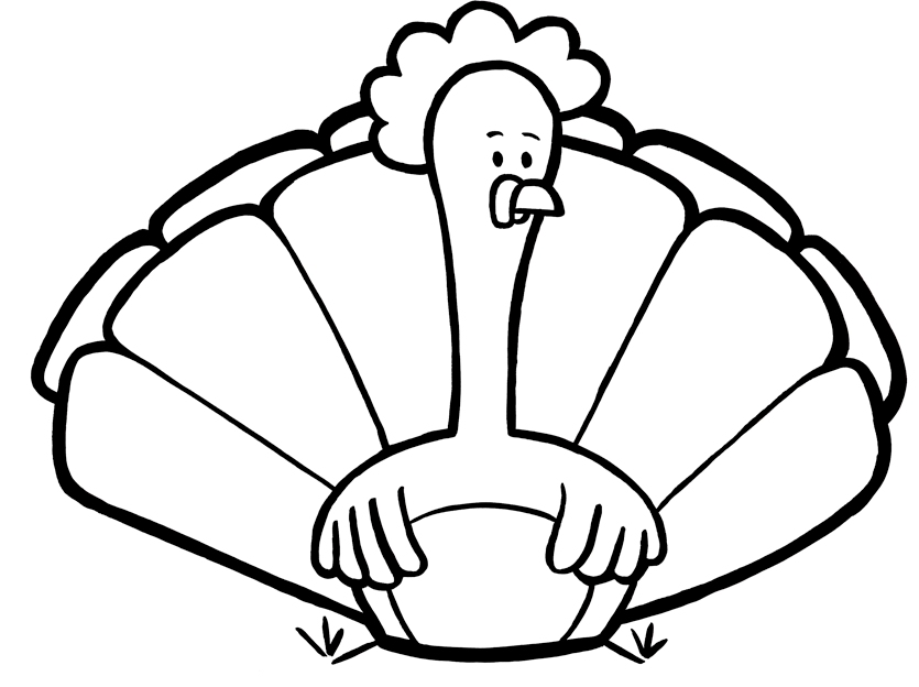 Coloring Pages Turkeys Preschool : Cute turkey coloring pages clipart panda free