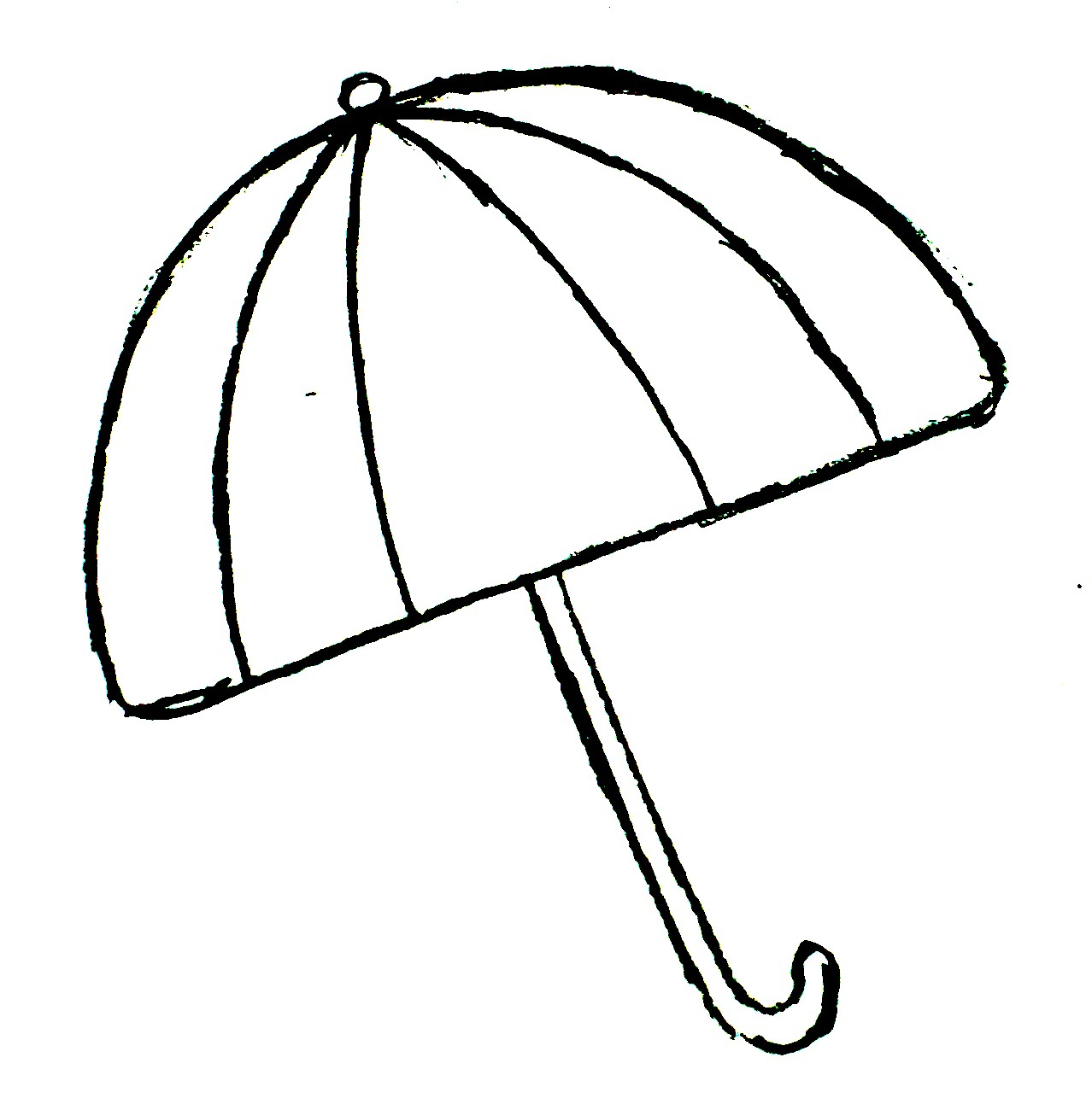 Umbrella Clipart Black And White Cute Umbrella D...