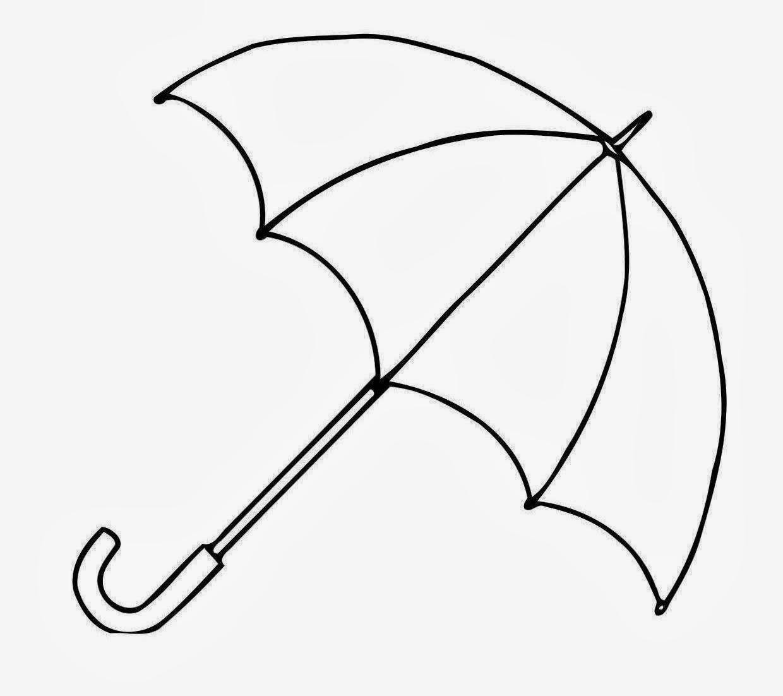 Line Drawing Umbrella : Cute umbrella drawing clipart panda free images