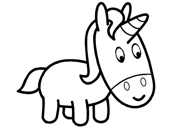Cute Unicorn Head Coloring Pages