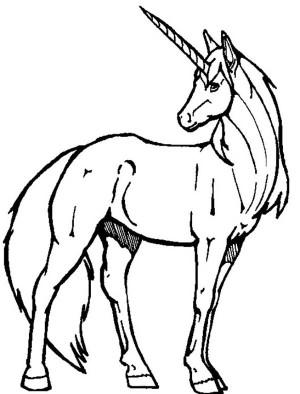 Cute Unicorn Drawing Clipart