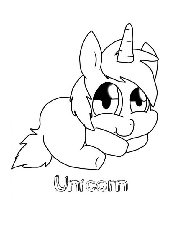 Fat Unicorn Coloring Coloring Pages