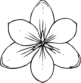 Simple flower clipart black and white clipart panda free clipart daffodil flower clip art mightylinksfo