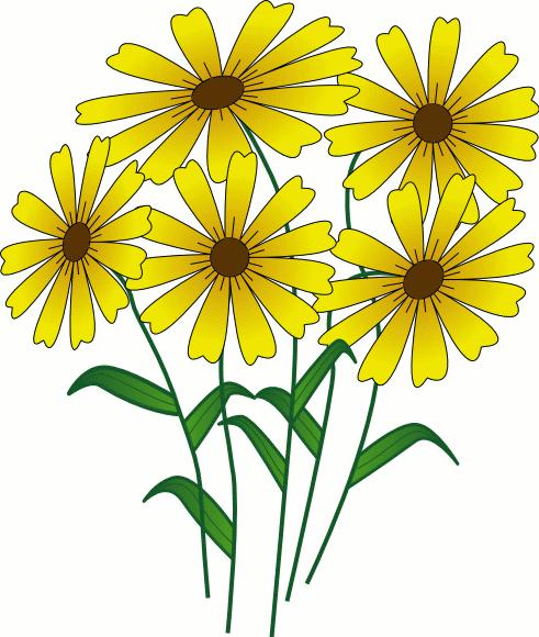 Clip Art Of Bouquet Of Flowers