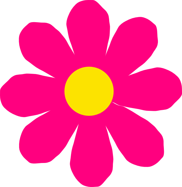 flower clipart clip dahlia pink bright categories