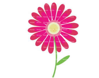 Hot pink flower clipart clipart panda free clipart images dahlia flower clip art mightylinksfo
