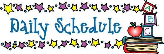 Image result for Kindergarten schedule