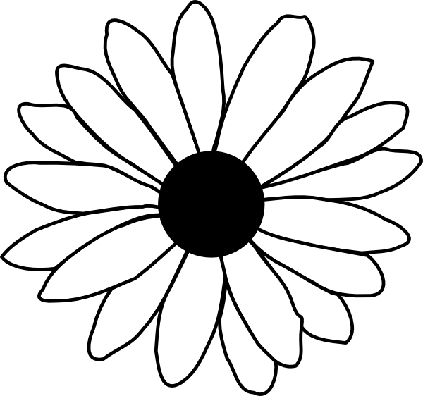 clipart line flower - photo #46