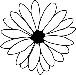 Daisy Clipart Black And White | Clipart Panda - Free Clipart Images