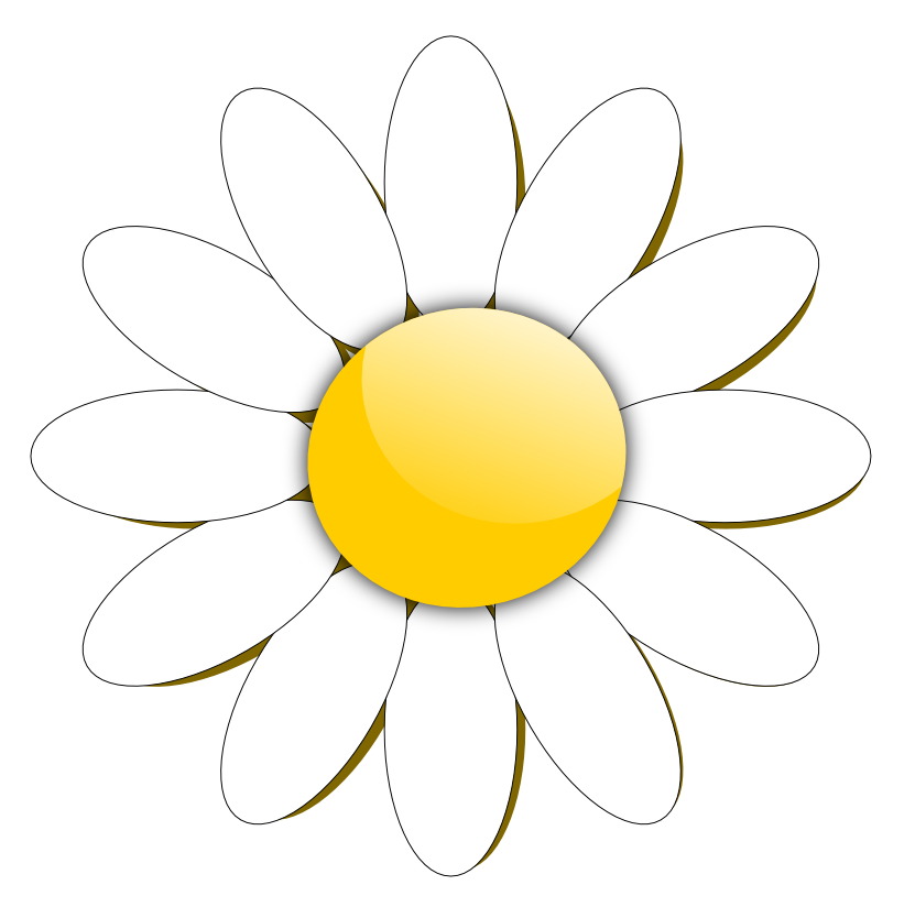 Daisy Clip Art Black And White | Joy Studio Design Gallery ... White Daisy Flowers Clipart