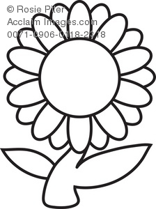 Clipart flowers black and white clipart panda free clipart images daisy flower clip art mightylinksfo