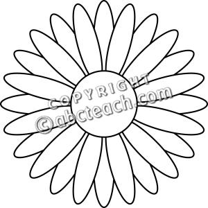Daisy flower clip art black and white clipart panda free clipart daisy flower clip art mightylinksfo