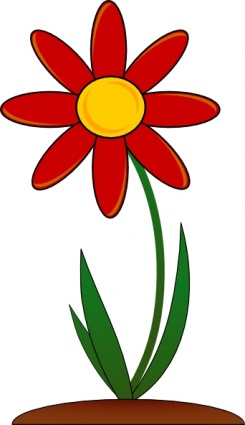 Red Flower clip art vectorRed Daisy Clipart