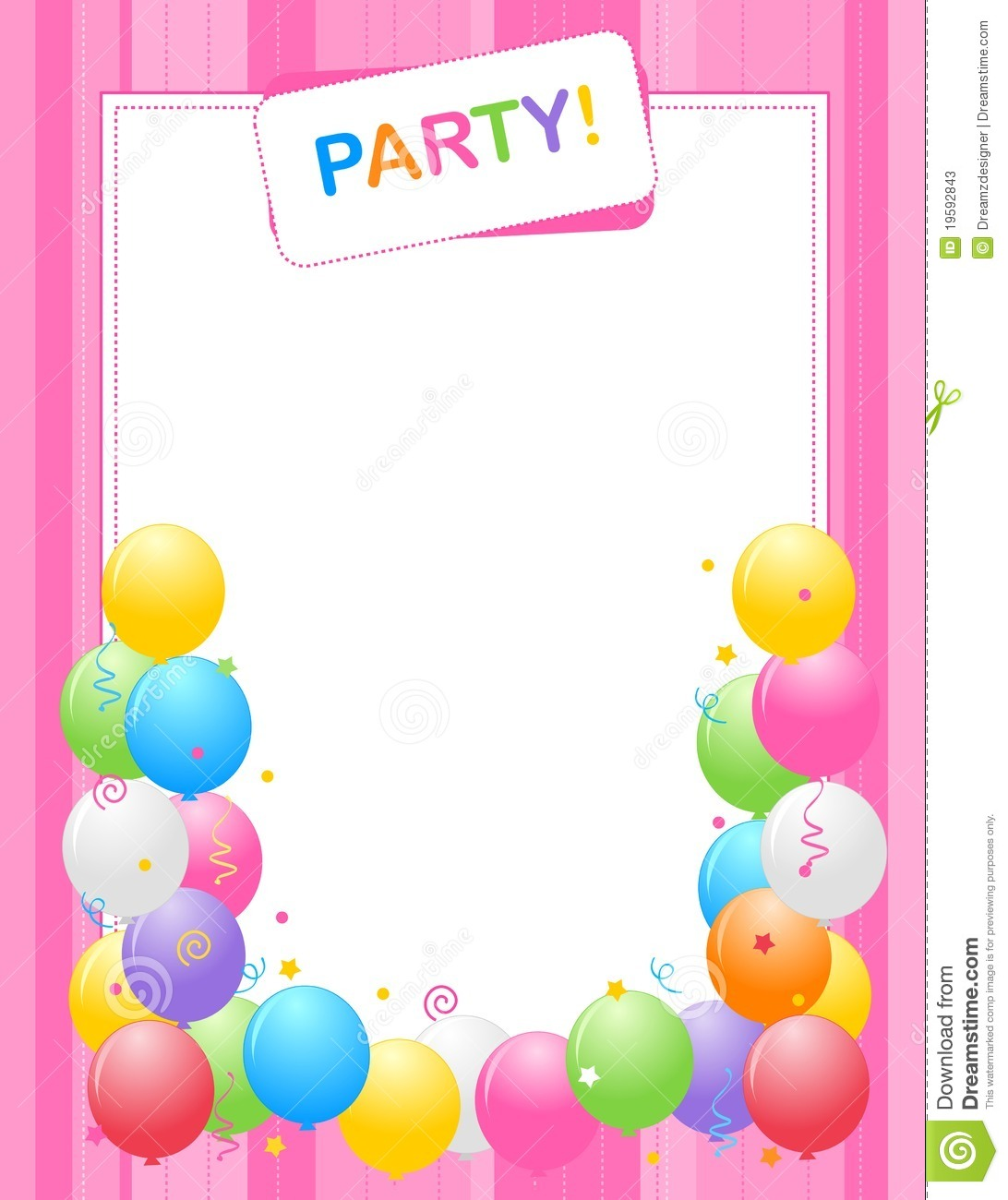 dance party borders for invitations