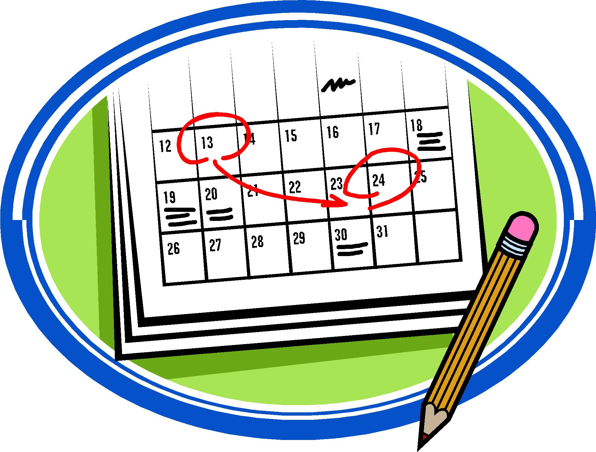 Calendar Time Clip Art : Date clipart panda free images