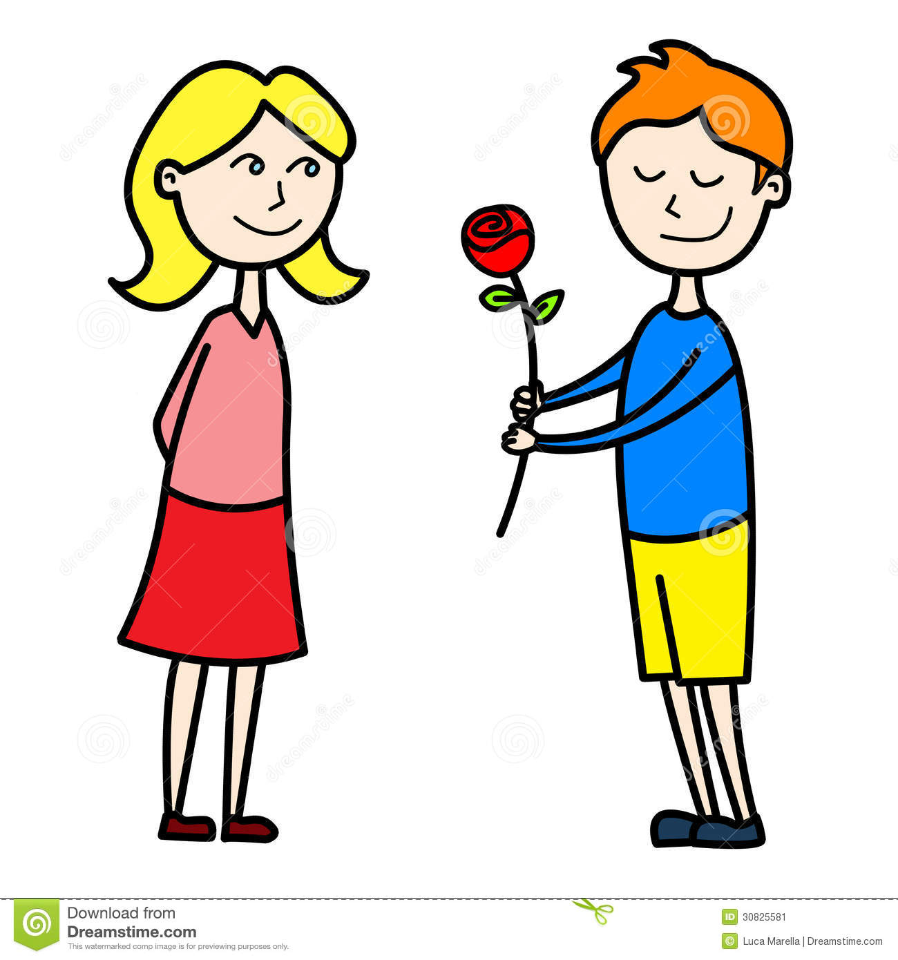 Going On A Date Clipart