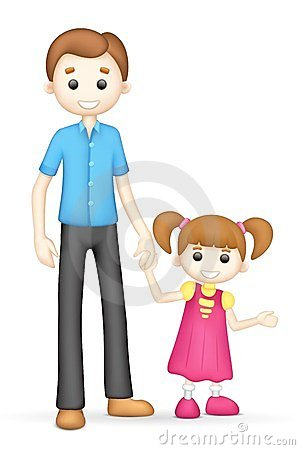 3d father and daughter in clipart panda free clipart images rh clipartpanda com father mother daughter clipart father daughter clip art free