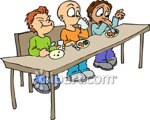 daycare-van-clipart-Pre Schoolers Eating Lunch Royalty Free Clipart    Kids Eating Breakfast At School Clipart