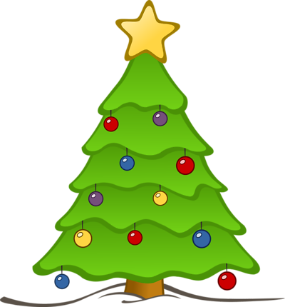Decorated Christmas Tree Clipart   Clipart Panda - Free Clipart Images